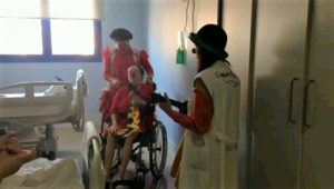 En el Hospital de Palamos, junto a payasas de hospital profesionales