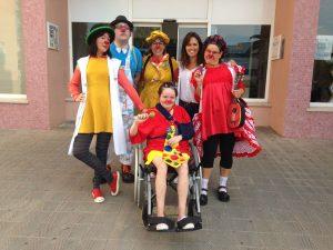 Nuestro trabajo de payaso de hospital profesional junto a otras compañeras en el hospital de Palamós