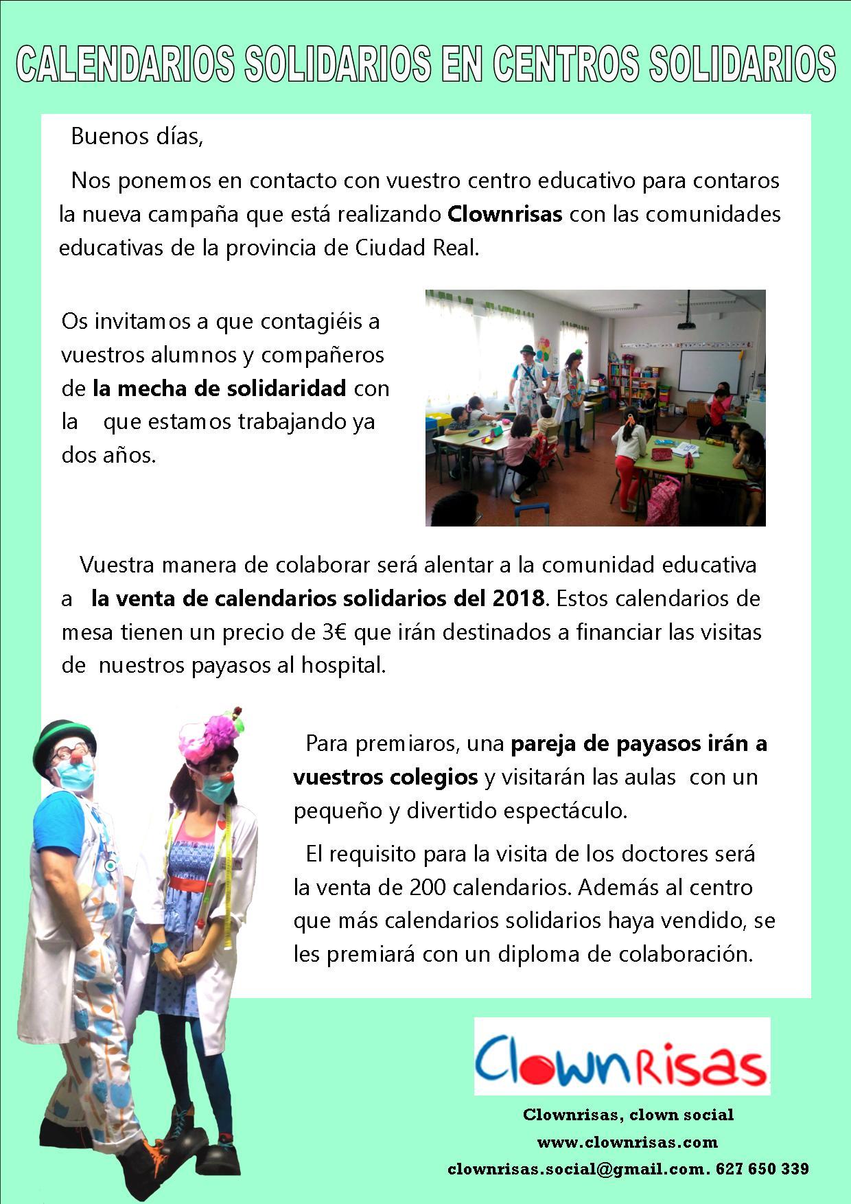 Colegios solidarios, calendarios solidarios.